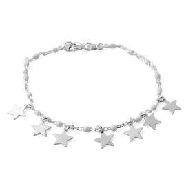 Sterling Silver Enamelled Beads Bracelet (Size 6.25)