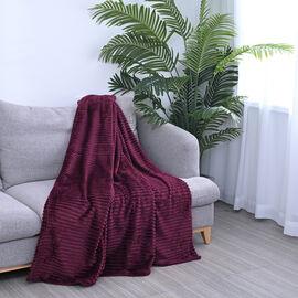 TJC Flannel Cord Blanket - Wine