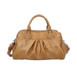 Super Soft Tote Handbag with Detachable Shoulder Strap and Zipper Closure (Size 39.5x13x23cm) - Bron