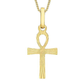 9K Yellow Gold Ankh Cross Pendant