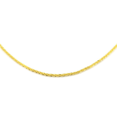 Adjustable NY Close Out - Diamond Cut Designer Rock Matinee Necklace (Size 24) in 14K Gold Overlay S
