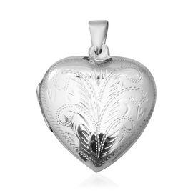 Sterling Silver Engraved Heart Locket, Silver wt 10.34 Gms