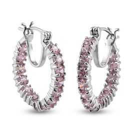 Pink Cubic Zirconia Earring Pure White Brass  5.50 ct  5.500  Ct.