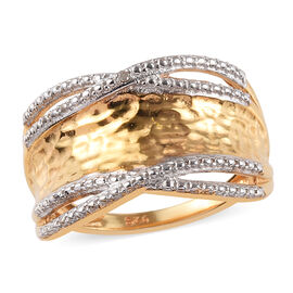 Diamond Band Ring in Gold Plated Sterling Silver
