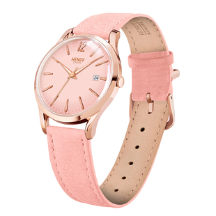 Personalised Engravable Henry London Shoreditch Ladies Nude Leather Strap Watch