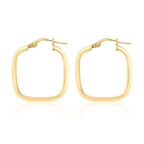 9K Yellow Gold Creole Earrings (with Clasp), Gold wt 1.70 Gms