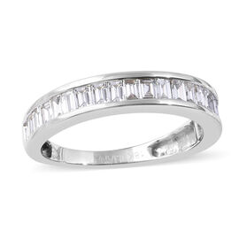 ILIANA 18K White Gold IGI Certified Diamond (Bgt) (SI/G-H) Eternity Band Ring 1.00 Ct.