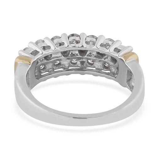 9K White Gold Natural White Diamond (I2/H-I) Ring 1.00 ct, Gold Wt. 4.50 Gms