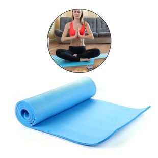 NBR Yoga Mat with Strap (188x61x1.27 Cm) - Light  Blue