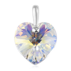 J Francis AB Crystal from Swarovski Heart Pendant in Sterling Silver
