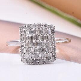9K W Gold SGL Certified Diamond (I3/G-H) Cluster Ring 0.50 Ct.