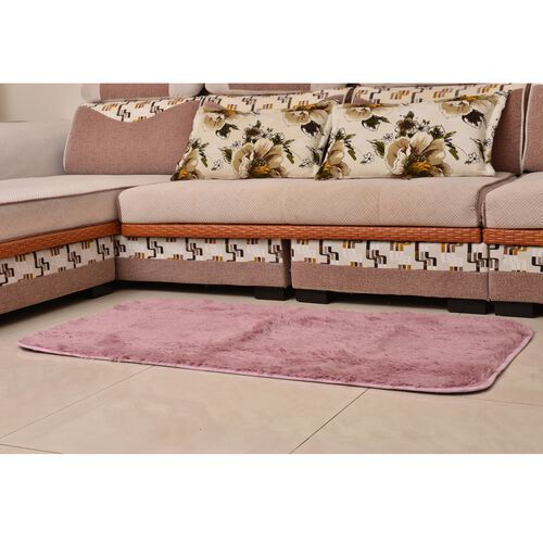 Super-Plush Extra-Long Pile Dusty Pink Colour YETI Lounge Rug (Size 180X140 Cm)