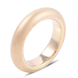 Premium Collection-Royal Bali 9K Yellow Gold Matte Finish Band Ring (Size R) Gold Wt 2.50 Grams