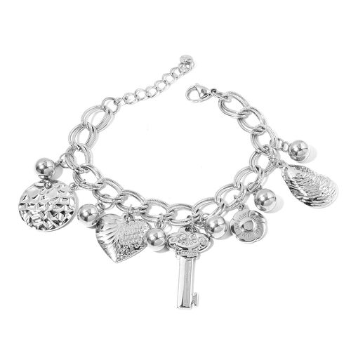 One Time Deal-Stainless Steel Double Link Curb Bracelet
