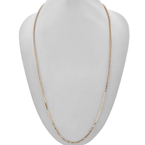 One Time Close Out Deal- 9K Yellow Gold Diamond Cut Spiga Necklace (Size 36). Gold Wt 10.63 Gms