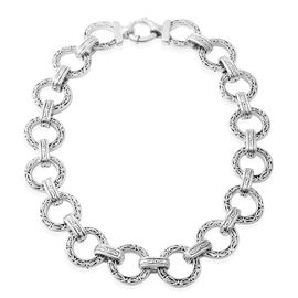20 Inch Rhodium Plated Sterling Silver Necklace 72.80 Grams