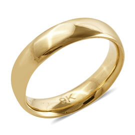 Royal Bali Collection 9K Yellow Gold Band Ring Gold Wt 1.84 Gms