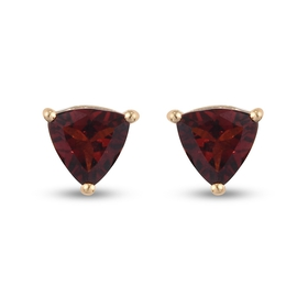 Red Garnet Earrings (with Push Back) in 14K Gold Overlay Sterling Silver 1.69 Ct.