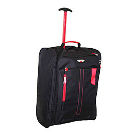Durable and Lightweight Cabin Luggage Bag with Wheels and Extendable Handle (50 x 40 x 20 Cms) - Red