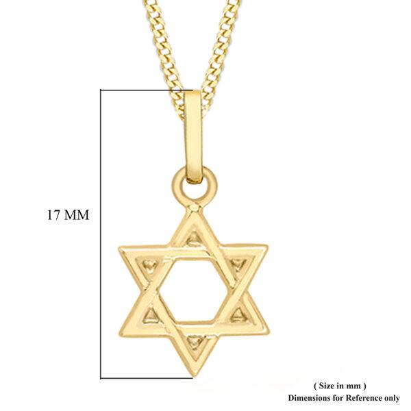 9K Yellow Gold Star of David Pendant
