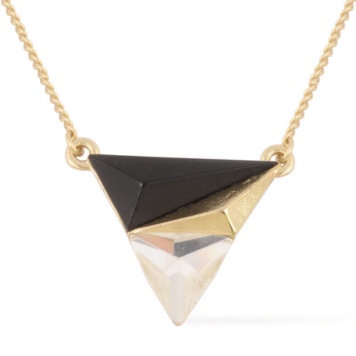 Pyramid Style Necklace (Size 18) in Yellow Gold Tone