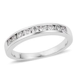 RHAPSODY 0.50 Carat IGI Certified Diamond (VS/E-F) Half Eternity Band Ring in 950 Platinum 5.74 gms