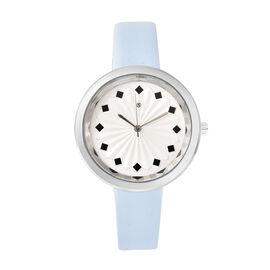 STRADA Japanese Movement Sunburst Effect Dial Water Resistant Watch with Blue Colour Strap