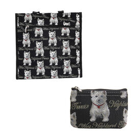 Signare Tapestry - Westie Shopping Bag with FREE Zip Coin Purse