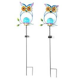 OTO - Set of 2  - Solar Powered Stake Light - Owl