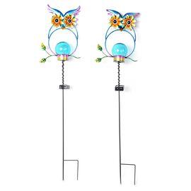 Set of 2  - Solar Powered Stake Light - Owl