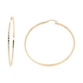 One Time Close Out Deal - 9K Yellow Gold Hoop Earrings (with Clasp Lock), Gold wt 6.60 Gms