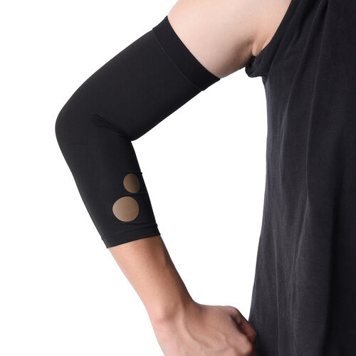 Set of 3 - Copper Fit Socks (Size S/M), Copper Knee Sleeve (Size M), Copper Elbow Sleeve (Size M) - Grey and Black
