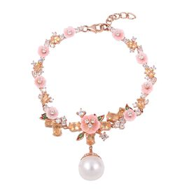 Jardin Collection - White South Sea Pearl, Pink Mother of Pearl, Amethyst and Natural White Cambodia
