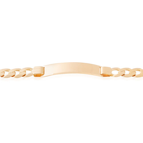 Limited Edition 8.25 Inch Flat Curb ID Bracelet in 9K Gold 14.40 Grams