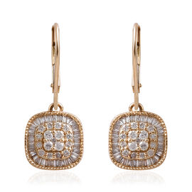 Diamond (1.00 Ct) 9K Y Gold Earring  1.000  Ct.