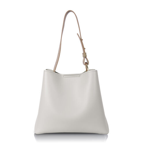 Inyati Jane Handbag with Adjustable Strap - Coconut Milk/Taupe