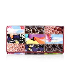 100% Genuine Leather One Time Close Out Deal Multi Colour Wallet (Size 18.5x3x9 Cm) - Nature