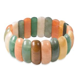 Multi Colour Aventurine (Cush) Stretchable Bracelet (Size 7) 311.50 Ct.