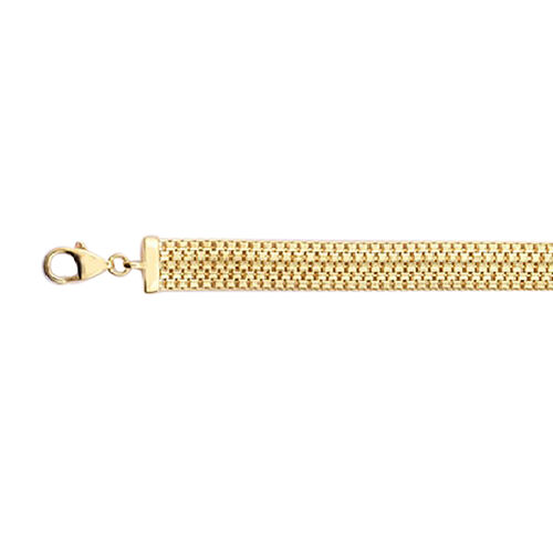 Vicenza Bismark Chain Bracelet in 9K Gold 7.5 with 1 inch Extender