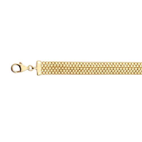 Vicenza Bismark Chain Bracelet in 9K Gold 7.5 with 1 inch Extender