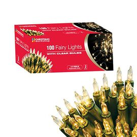 100 Shadeless Clear Fairy Lights