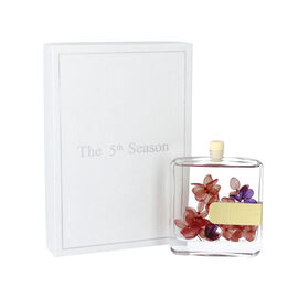 The 5th Season - 100ml Square Diffuser with Real Flowers - Red (Fragrance English Pear & Freesia)