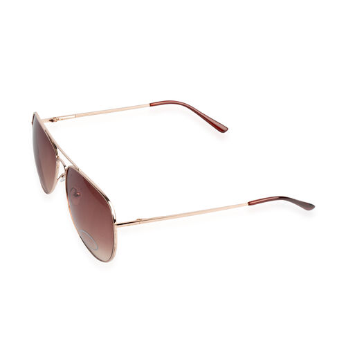 UV Protection Aviator Sunglasses - Brown