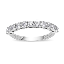 RHAPSODY 950 Platinumt IGI Certified VS/E-F Diamond Half Eternity Band Ring  1.000  Ct.