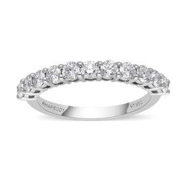 RHAPSODY 950 Platinumt IGI Certified VS/E-F Diamond Half Eternity Band Ring  1.000  Ct.