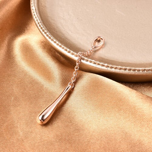 LucyQ Drip Collection - Rose Gold Overlay Sterling Silver Drip Pendant