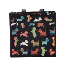 SIGNARE-Tapestry Collection - Playful Puppy Multi Compartment Shopper Bag (30x30x13.5cm)