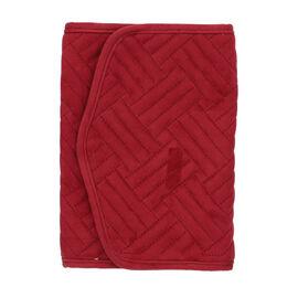 Jewellery Roll Organiser Magnetic Snap Closure Handbag (Size: 16x20.3x2.5Cm) - Burgundy