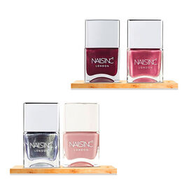 Nails Inc: Paint Your Nails Happy (Racy & Retro - 14ml, Throwing Shapes - 14ml, Full Coverage - 14ml
