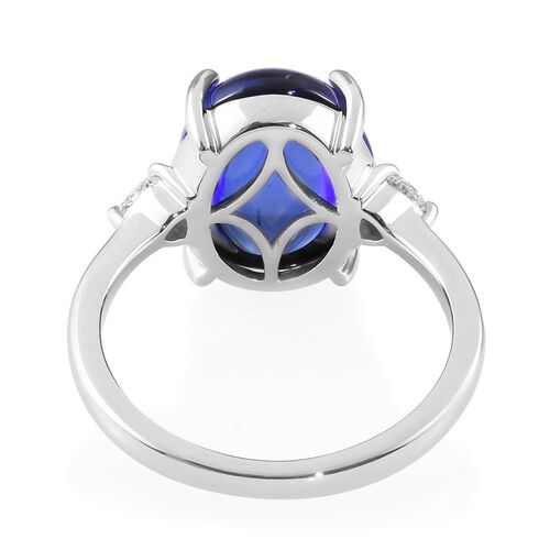 RHAPSODY 950 Platinum AAAA Tanzanite and Diamond (VS/E-F) Ring 8.75 Ct, Platinum wt 5.40 Gms